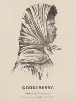 Cora Gooseberry (1777-1852), by Charles Rodius, 1840s