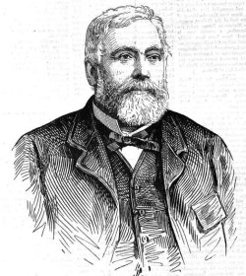 Philip Russell (1822-1892), by unknown engraver, 1892