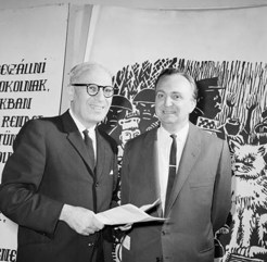Andrew Fabinyi, [Left) with Arnold Ruttkay, 1964