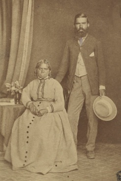Bessy Cameron, with her husband, Donald, c.1877