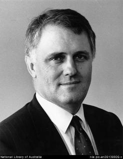 Malcolm Turnbull, by Loui Seselja, 1998