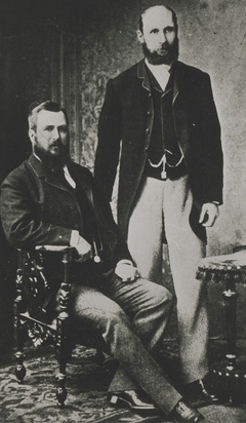 George McCulloch, seated, with Charles Rasp, C.1890